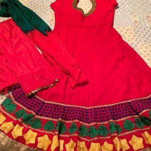 Dresses & Skirts - Red anarkali size 38